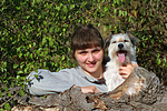 Frau mit Parson Russell Terrier / woman with PRT
