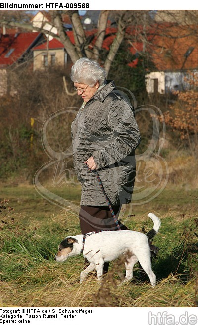 Frau mit Parson Russell Terrier / woman with PRT / HTFA-009568