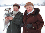 Frauen mit Parson Russell Terrier / women with PRT