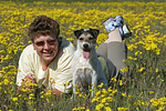 Frau und Parson Russell Terrier / woman and PRT